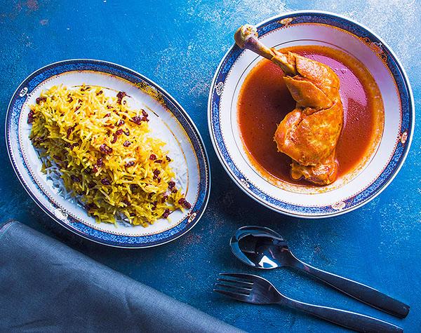 Zereshk Polo Ba Morgh by Persian House Restaurant in Bangkok